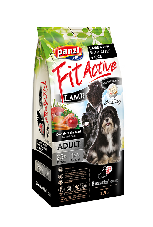 Fit Active Black Dogs - 1,5kg