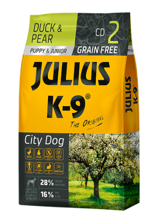 Julius-K9 graanvrije puppybrok Duck & Pear - 10kg